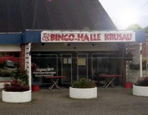 Bingohalle Krusau Eingang