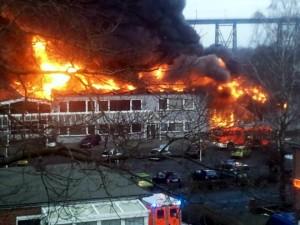 Grossbrand im Autohaus Fräter in Rendsburg